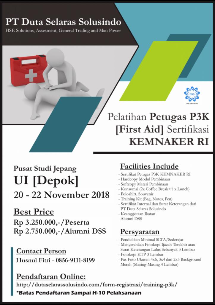 [PUBLIC TRAINING] P3K KEMNAKER Training PT. Duta Selaras Solusindo